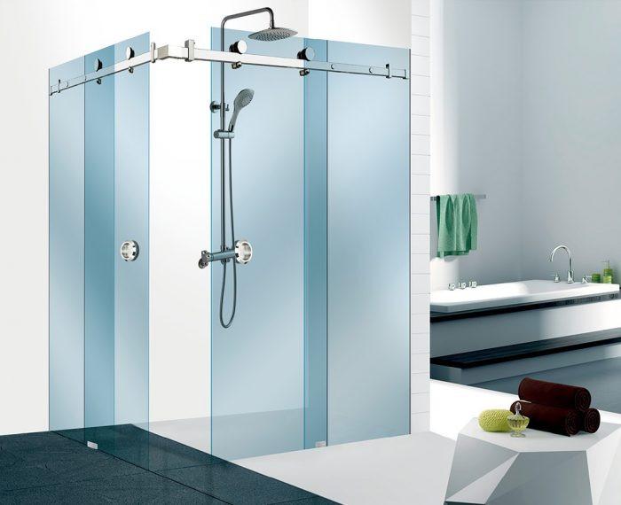 90°-os sarok tolóajtós zuhanykabin szerelvény szett - Wágner and ...